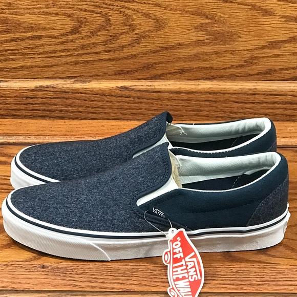 04302d3c8ece Vans Shoes   Classic Slip On Suede Suiting Dress Blues   Poshmark